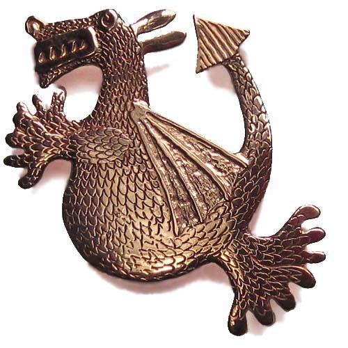 small friendly dragon brooch