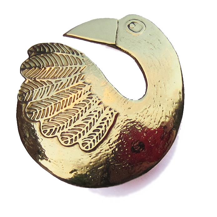 goose or swan brooch