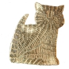 Seated cat brooch