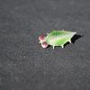 Green leaf beetle brooch