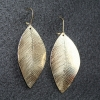 Reversible leaf earrings