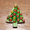 Red christmas tree brooch