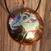 Copper and brass deer pendant