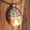 Tree seed pendant necklace