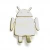 andoid type robot brooch