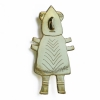 Alien with pointy head brooch