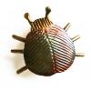 Copper bug brooch