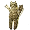 Cat brooch ,standing begging