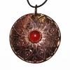 Carnelian and bronze pendant