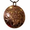 Bronze circles pendant necklace