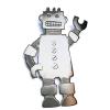 Big robot brooch