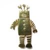 Square headed robot brooch
