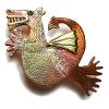 gold wing dragon brooch