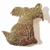 Hairy dog brooch