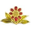 Red daisy brooch