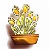 Tulip window box brooch