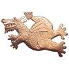 Medium dragon brooch