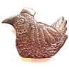 copper chicken brooch