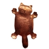 copper fat cat brooch